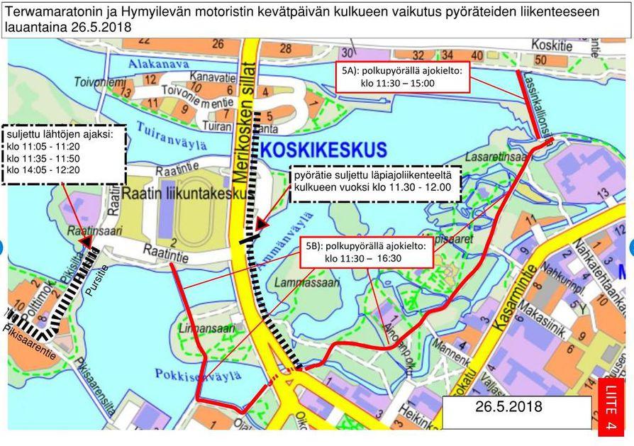 Terwamaraton Ja Motoristien Kulkue Vaikuttavat Oulun Liikenteeseen