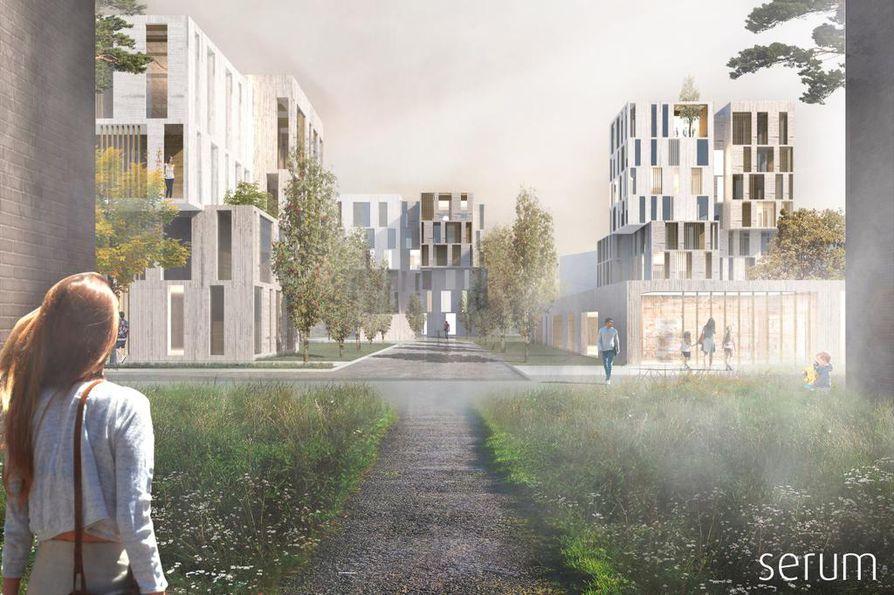 Serum Arkkitehdit ovat myös tehneet suunnitelmia Puolivälinkankaan uudistamiseksi.