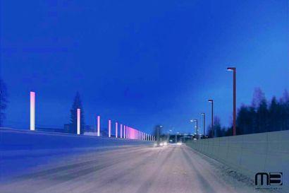 Näyttävä maamerkki ohikulkijoille – Iijoen sillan valoteos uudessa aloituksessa