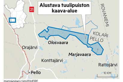 Metsähallituksen Pelloon suunnittelema tuulipuisto huolettaa alueen porotaloutta