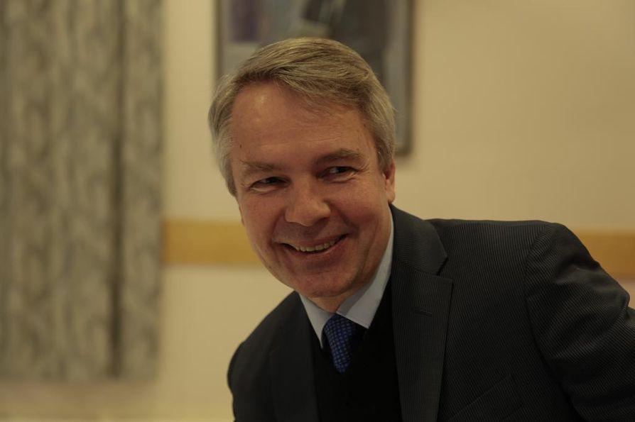 Kehitysministeri Pekka Haavisto vieraili lauantaina Oulussa Opettajainpäivillä.