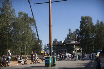 Raatin ja Kuusisaaren välinen uusi silta on ollut vähällä käytöllä Qstockissa, vaikka se  rakennettiin tapahtumia varten