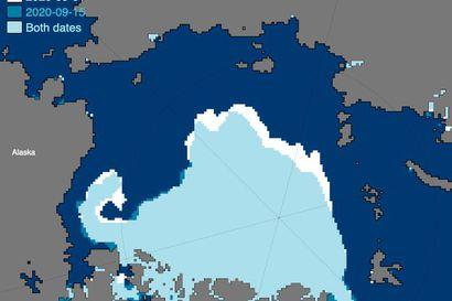 Pohjoisen napajään reuna vetäytyi muutama päivä sitten kauemmas Suomesta kuin koskaan – jää suli kesän lopuksi ennätystahtia