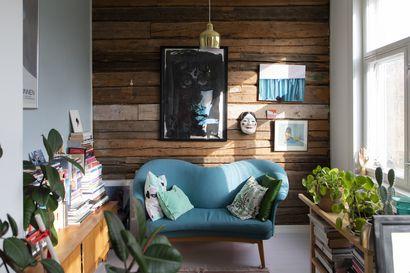 Silja Kejosen koti toimii laboratoriona, jossa värit ja kirpputorilöydöt sointuvat yhteen – katso kuvat persoonallisesta kodista