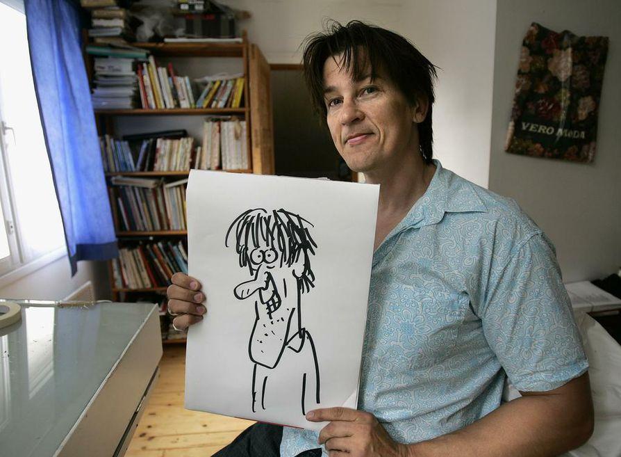 Suosittujen pilapiirrosten takana on Jari Elsilä, joka aloittaa omien sanojensa mukaan piirtämisen aina nenästä. Hän piirsi käsissään olevan omakuvansa ulkomuistista vajaassa minuutissa.