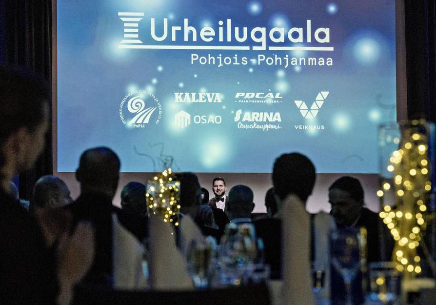Pohjois-Pohjanmaan urheilugaala järjestetään Lasaretissa 31 tammikuussa. Kuva on vuosi sitten järjestetystä urheilugaalasta.