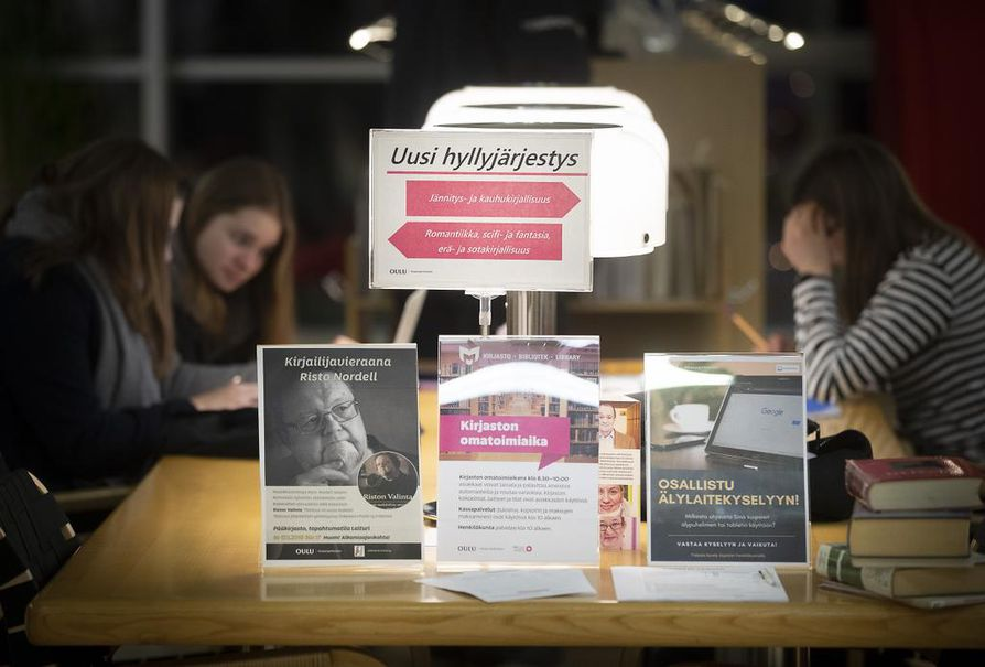 Oulun kirjastoissa järjestettiin viime vuonna yli 1 100 erilaista tilaisuutta.