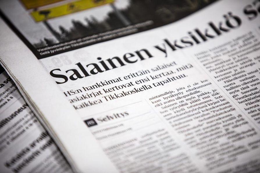 Helsingin Sanomien lauantaina 16.11. julkaisemasta artikkelista on käynnistetty poliisitutkinta.
