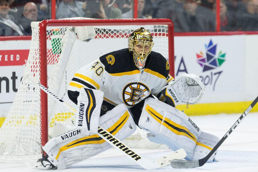 Boston Bruinsin maalivahti Tuukka Rask oli hyvässä vireessä. Arkistokuva.