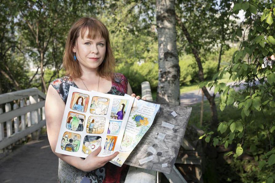 Riika Ruottista inspiroi sarjakuvien tekemisessä monipuoliset ilmaisun mahdollisuudet.