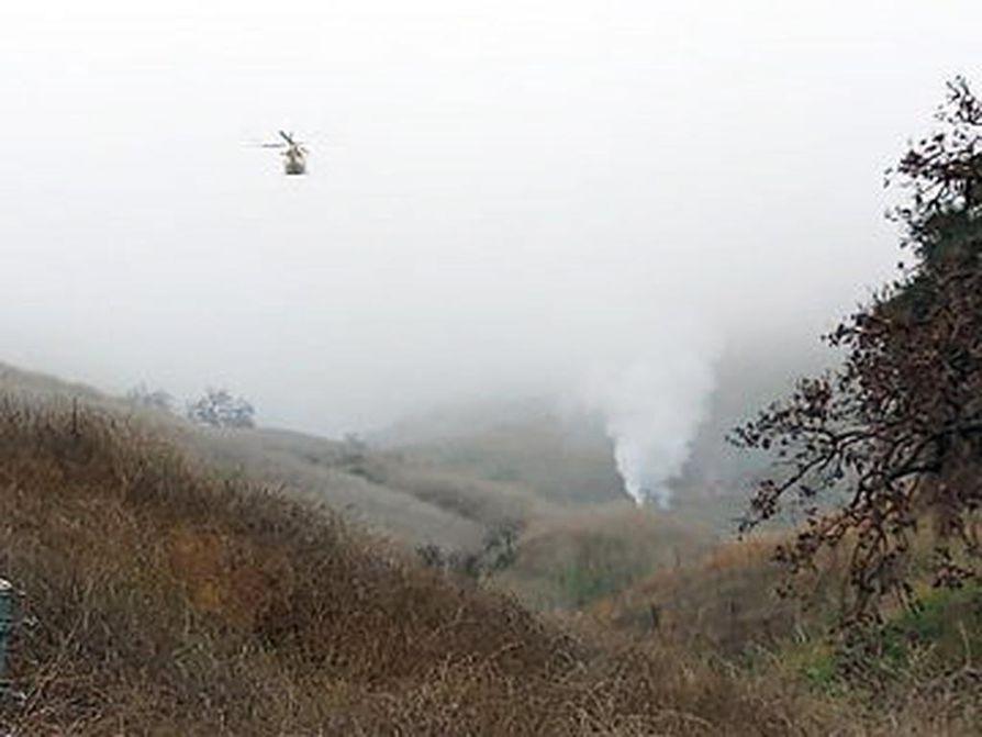 Kuva helikopterionnettomuuden paikalta näyttää sään olleen sumuinen.