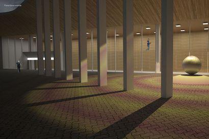 Lapin keskussairaalan tulevalle pääsisäänkäynnille nousee parantava pallo – Taidehankintoihin on varattu yhteensä puoli miljoonaa euroa