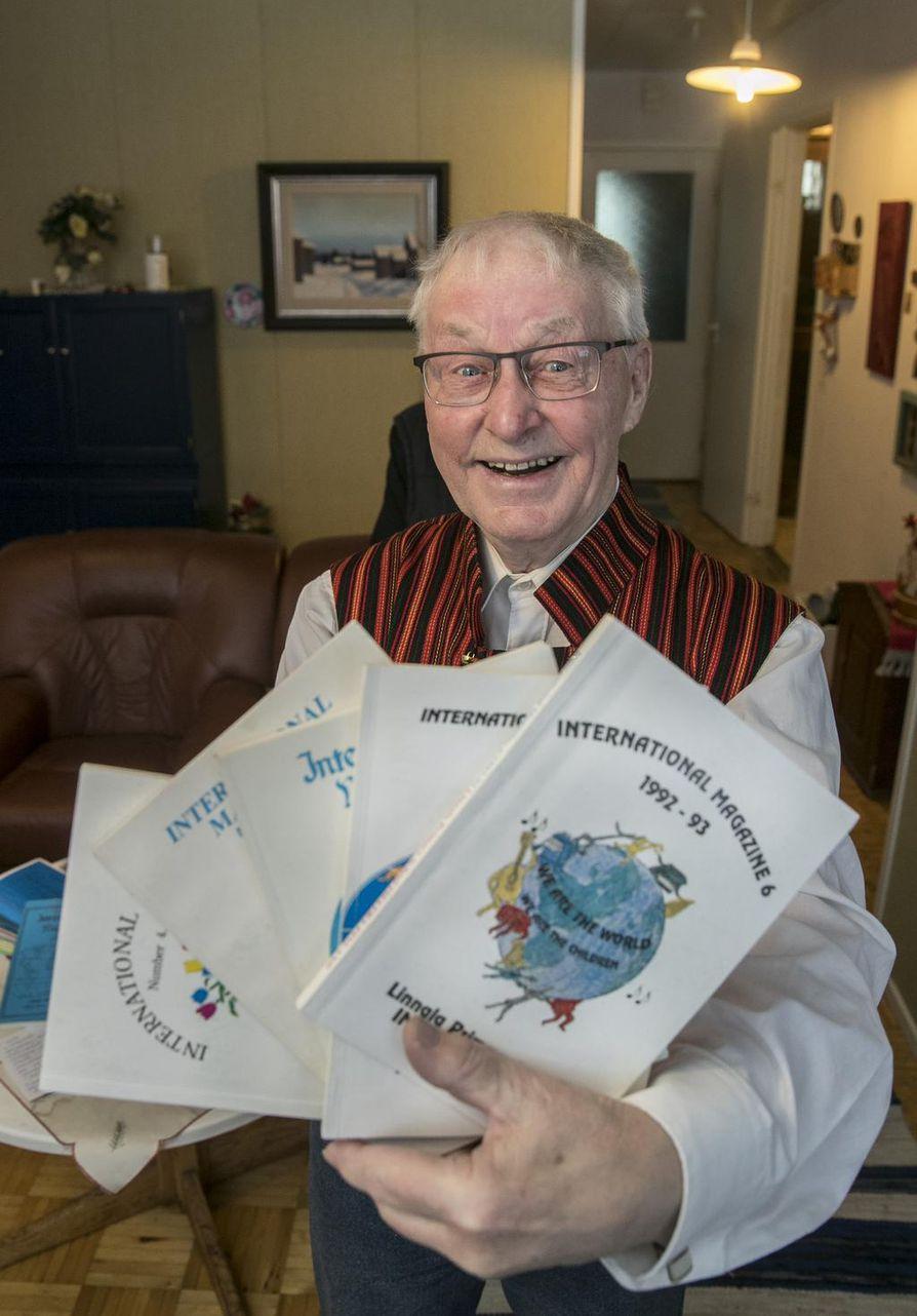 Muhoksella asuva opettaja Benjam Myllyselkä oli kansainvälisyyskasvatuksen pioneereja.