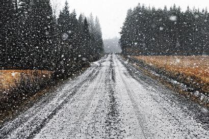 Pääsiäisen paluuliikenteeseen luvassa sadetta sekä lumena että vetenä – ajokeli on kehno Pohjois-Suomessa