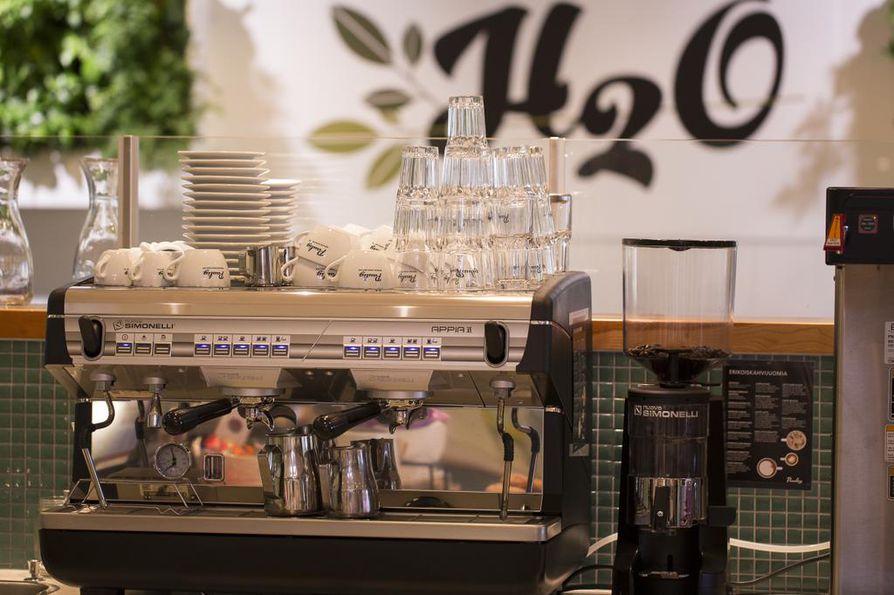 H2O-ketju on avannut uuden kahvilan Kempeleessä