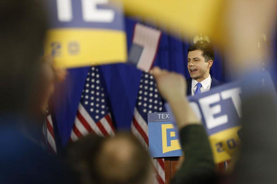 South Bendin entinen pormestari Pete Buttigieg ylsi New Hampshiren esivaaleissa toiseksi. Myös Buttigieg oli tyytyväinen tulokseen.