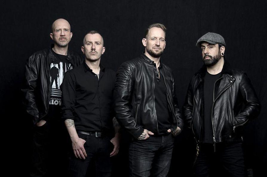 Volbeat nousee lavalle Qstockissa lauantaina.