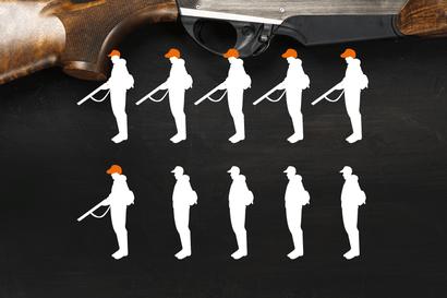 Lapista löytyy yhteensä yli 80000 haulikkoa ja kivääriä, väkilukuun suhteutettuna se on eniten Suomessa
