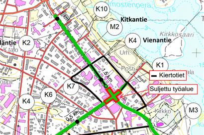 Kuusamon keskustan liikennejärjestelyt käynnistyvät – Liikennejärjestelyiden saneerauksella parannetaan alueen viihtyisyyttä ja esteettömyyttä sekä liikenneturvallisuutta