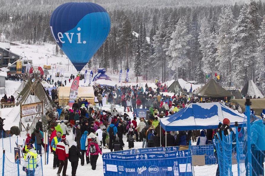 Arkistokuva Levin maailmancupin kilpailusta.