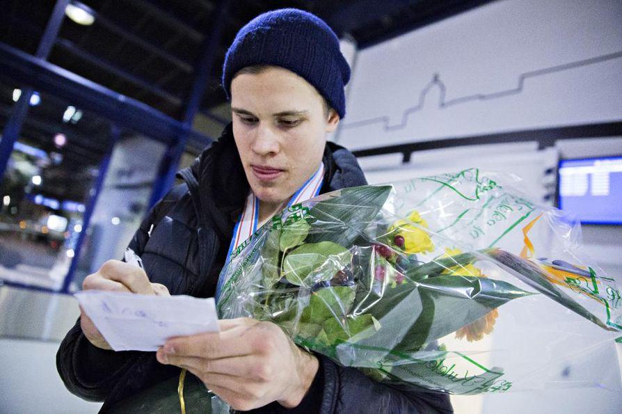 Jesse Puljujärvi edusti Suomea viime kevään MM-kisoissa. Arkistokuva.