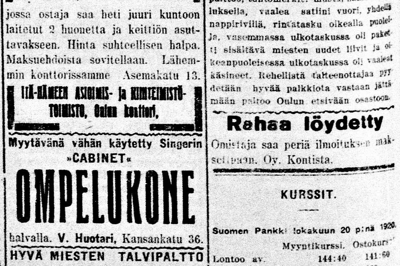 Vanha Kaleva: Oulujokivarren kyliin sähkövoimaa Oulusta
