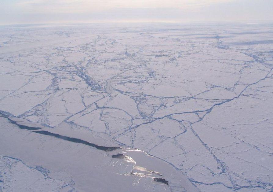 Arktista merijäätä Kanadan pohjoispuolella. Arkistokuva.