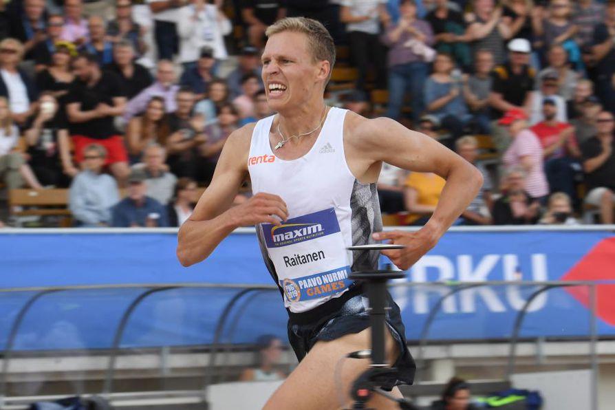 Topi Raitanen rikkoi oman ennätysaikansa tiistaina Paavo Nurmen kisoissa.