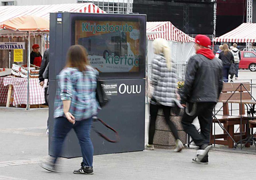 Ubi-näytöt ovat reilun parin vuoden ajan olleet osa kaupunkikuvaa.