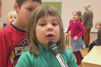 Linnukan päiväkodin viisivuotiaat ideoivat Kirkonrantaan rakennettavaa leikkipuistoa –toiveena muun muassa hämähäkkikiipeilyverkko ja kummitusliukumäki