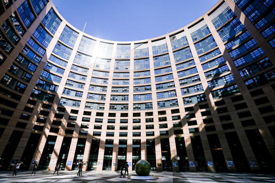 Euroopan parlamentin päärakennus Strasbourgissa Ranskassa.