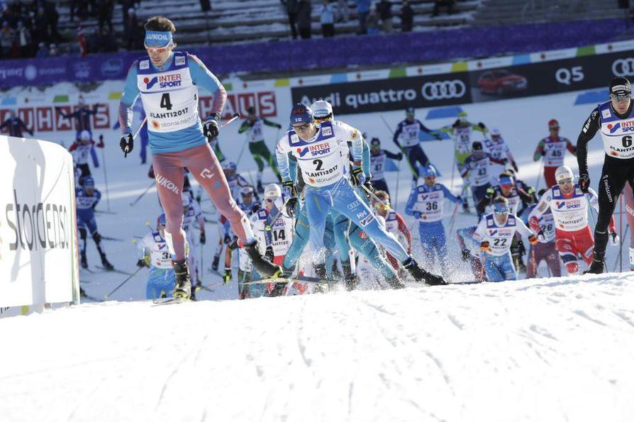Suomea Lahden 50 kilometrin hiihdossa edustavat Matti Heikkinen, Kusti Kittilä, Perttu Hyvärinen  ja Lari Lehtonen.