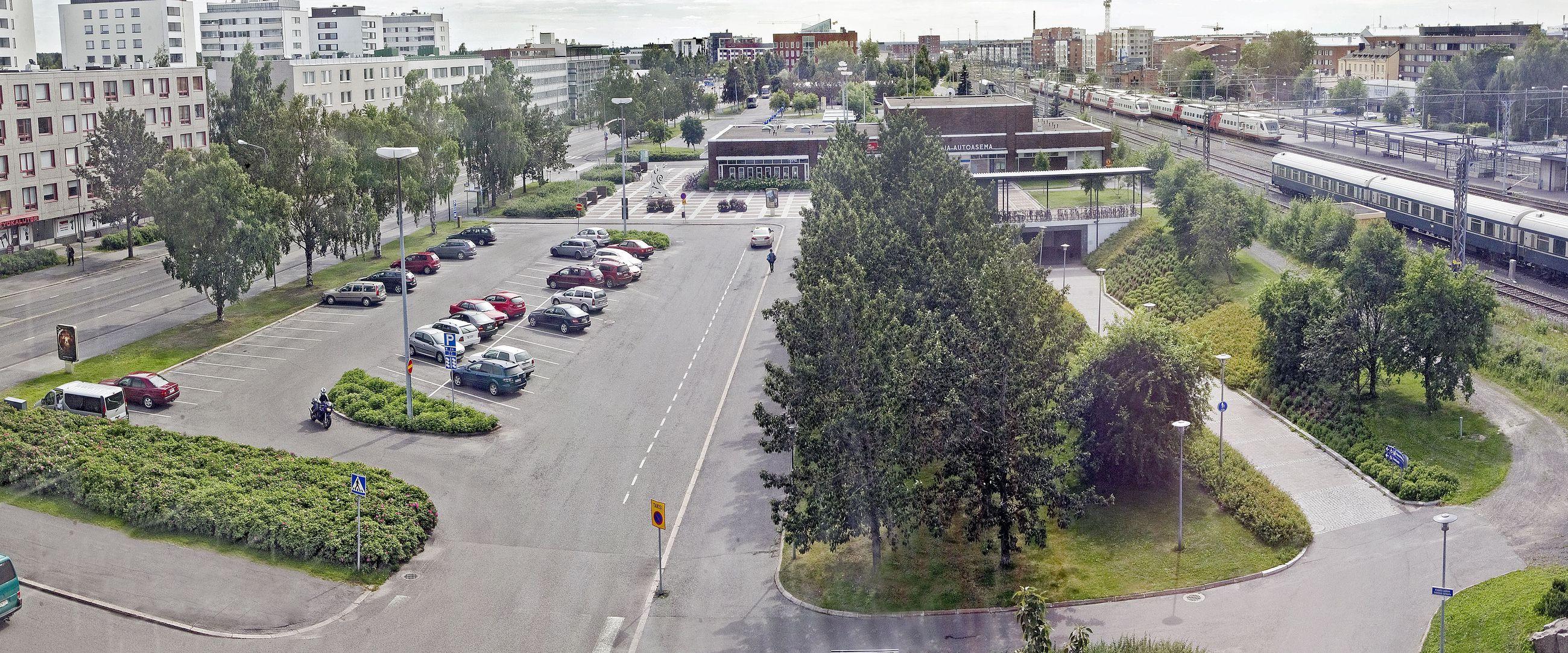 Oulu Linja-Autoasema Pysäköinti