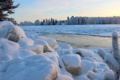 Hyydetulvariski on yhä olemassa Iijoella, vaikka joki on saanut jääkannen