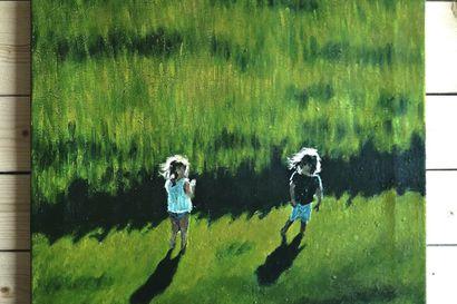 """Lumijoen Hiidenkivessä pääsee tutustumaan Reetan ja Karoliinan taiteeseen: """"Onni esiintyy aina tässä hetkessä"""""""