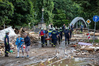 Tulvien koettelemalla saksalaisalueella ei ole saatu yhteyttä 1300 ihmiseen