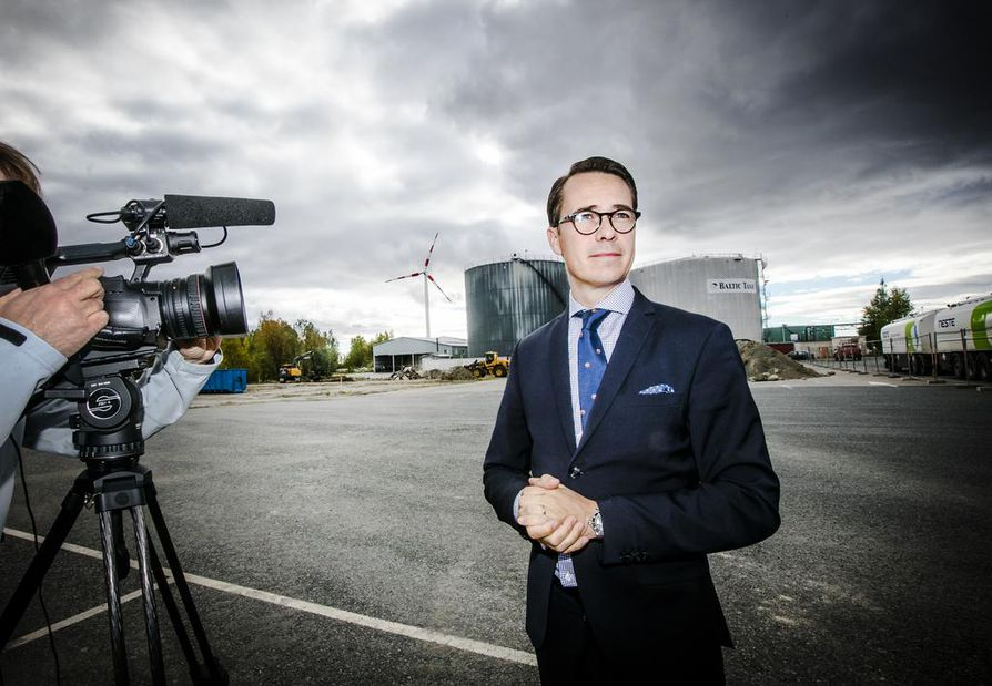 Kaidi Finlandin toimitusjohtaja Carl Haglund esitteli syksyllä 2016 kiinalaisyhtiön suunnitelmia biopolttoainejalostamolle varatulla tontilla Kemin Ajoksessa.