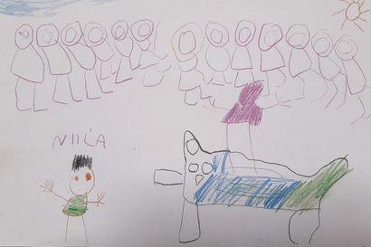 Ounasrinteen asfalttikenttä täyttyy lauantaina supersankareista – lapset piirtäneet jo monta luonnosta