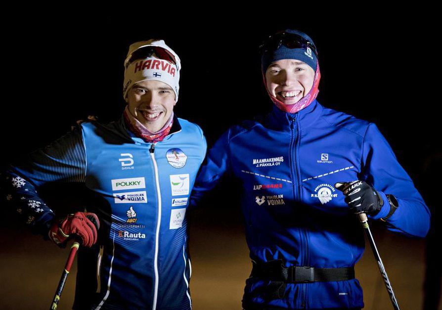 Juho ja Oskari Hökkä viihtyvät yhdessä sekä harjoituksissa että vapaa-ajalla.