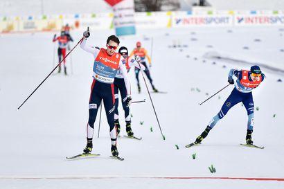 Herolan hopeahiihto esitteli yhdistetyn parhaat puolet - jopa päävalmentaja Petter Kukkonen pelkäsi mäkiosuuden jälkeen, että mitalisauma oli menetetty.