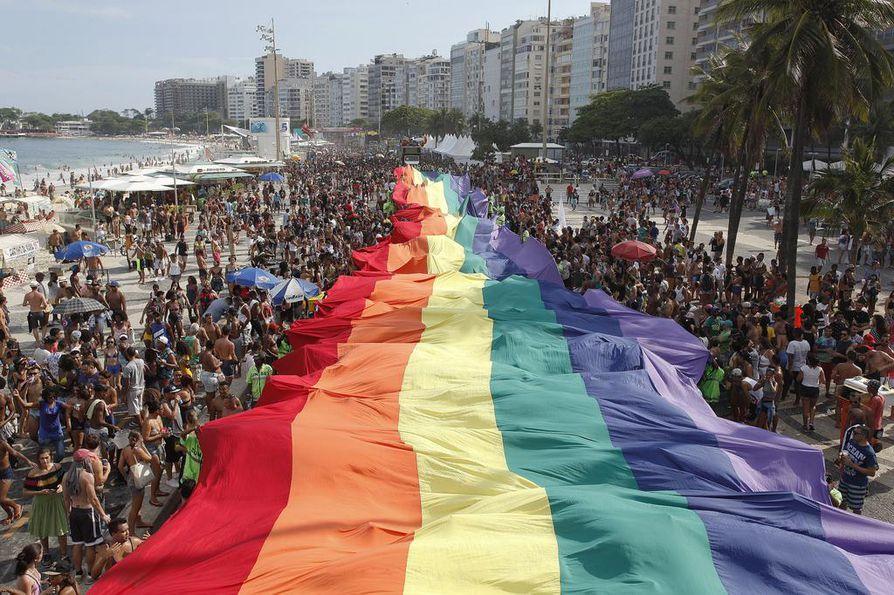 Brasilian Rio de Janeirossa järjestettiin sukupuoli- ja seksuaalivähemmistöjen pride-marssi joulukuussa 2016.