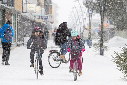 Tekstareissa todetaan, että Raahe on jo pyöräilykaupunki, mutta lisää asukkaita kaivattaisiin