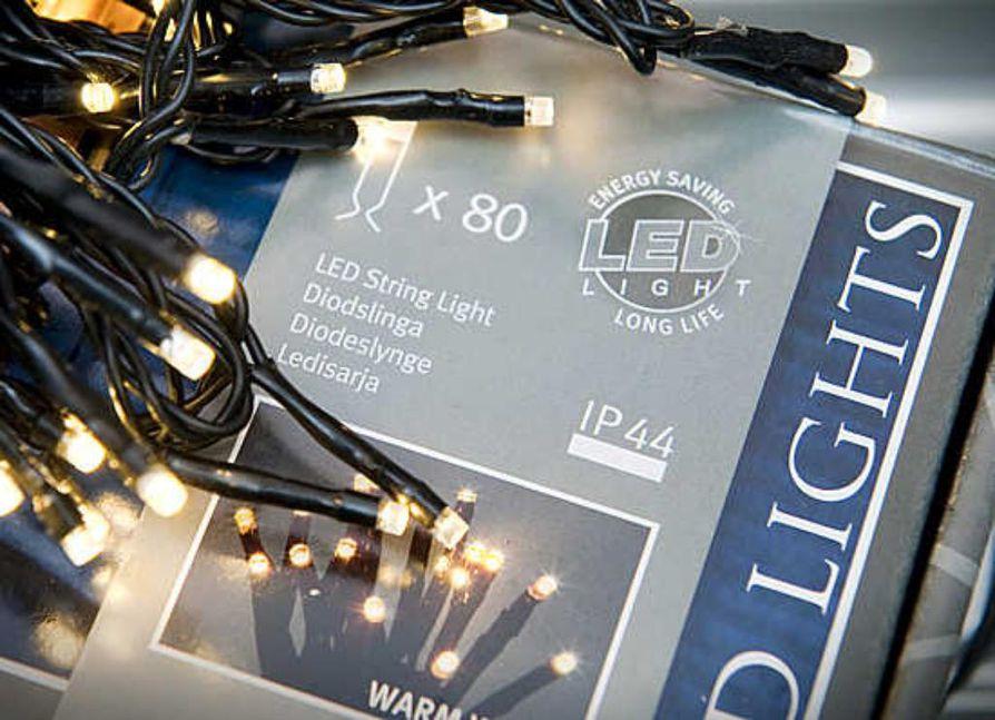 Ulos tarkoitettu valosarja on merkitty tunnuksella IP44.
