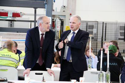 Jalostetuille puutuotteille on hyvin kysyntää – Tervolassa vihittiin käyttöön Vaaran Palkin jättimäinen hirsitehdas