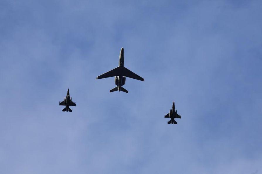 Puolustusliitto Naton sotilaskoneet osallistuivat sotaharjoitukseen Keski-Norjan ilmatilassa viime lokakuun lopulla.