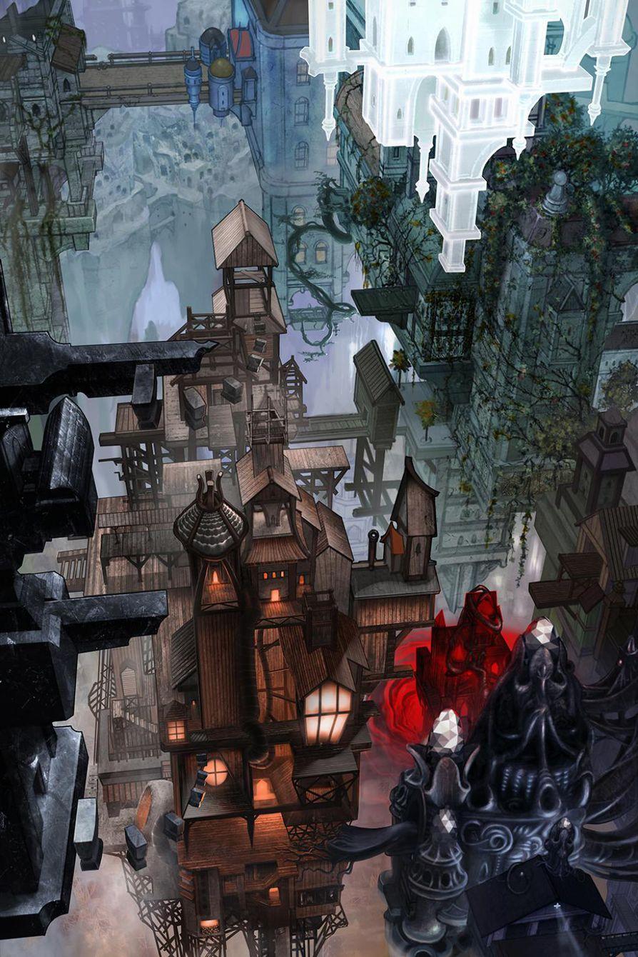 Oululaisen Playsignin Wizardris-pelin kartaksi tekemä maalaus voitti Disainia peliin -kilpailun.
