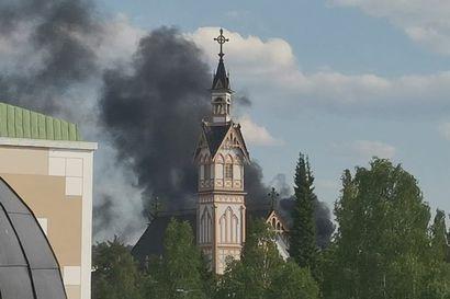 Kajaanin keskusvarikon tulipalo 15.6.2020