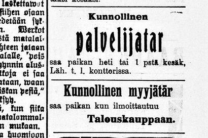 Sata vuotta sitten: Kunnollisille ihmisille oli töitä tarjolla