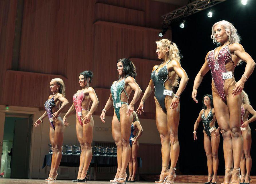 Madetojan salilla käytiin bodyfitness-kisa syksyllä  2010. Arkistokuva.