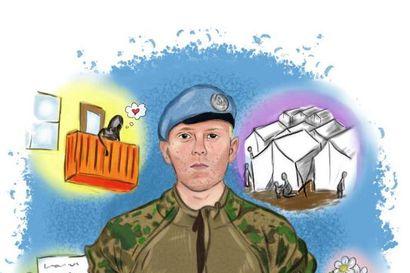 Rovaniemeläislähtöinen Jussa Huttunen kiinnostui rauhanturvaamisesta inttiaikana ja sai kriisinhallintaoperaatiolla nähdä maailmaa sellaisena kuin se on